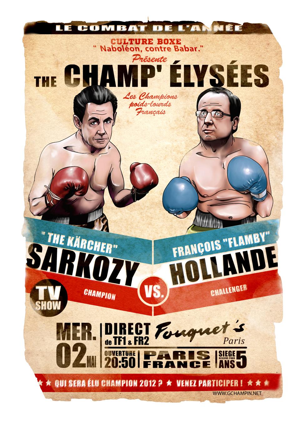 Cultureboxe Geoffrey Champin François Hollande Nicolas Sarkozy Présidentielles 2012 Politique Boxe